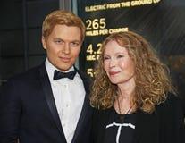 Ronan Farrow y Mia Farrow en 2015 la gala del tiempo 100 Foto de archivo