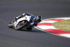 Ronan Quarnby Triumph Daytona 675 Suriano Royalty Free Stock Photos