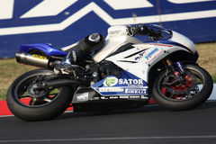 Ronan Quarnby Triumph Daytona 675 Suriano stock photo