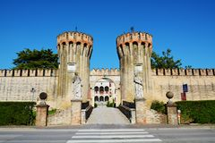 Roncade castle in Treviso Stock Image