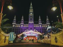 Roncalli Circus Vienna. Roncalli Circus in Vienna in fron of The New Town Hall Neues Rathaus of Vienna, Austria, 05.October 2018 royalty free stock image