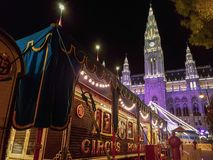 Roncalli Circus Vienna. Roncalli Circus in Vienna in fron of The New Town Hall Neues Rathaus of Vienna, Austria, 05.October 2018 stock image