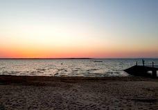 Ronce-les-Bains strand och atlantiskt hav fotografering för bildbyråer