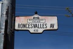 Roncesvalles aveny i Toronto Royaltyfri Fotografi