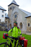 Roncesvalles begin of Way of Sain James biking Royalty Free Stock Photography