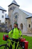 Roncesvalles comienza de la manera de biking de Sain James Fotografía de archivo libre de regalías