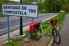 Roncesvalles comincia del modo del ciclismo di Sain James Fotografie Stock Libere da Diritti