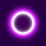 Rond abstrait au néon Éclipse du soleil Illustration de vecteur Image libre de droits