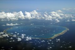 Rond atol Stock Foto
