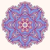 Rond blad purper patroon - 2 royalty-vrije illustratie