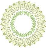 Rond bloemenornament vector illustratie