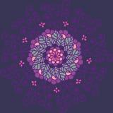 Rond bloemenpatroon Royalty-vrije Stock Afbeeldingen