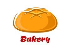 Rond brood met gebakken korst stock illustratie