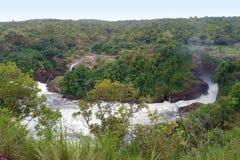 Rond Dalingen Murchison van Oeganda stock fotografie