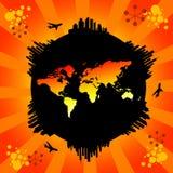 Rond de wereld Stock Afbeelding