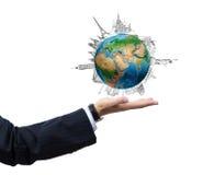 Rond de Wereld Stock Foto