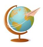 Rond de wereld vector illustratie