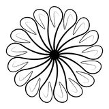Rond en spiraalvormig zwart ornamentelement Royalty-vrije Stock Fotografie