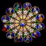 rond en verre de Mary souillé Photos libres de droits