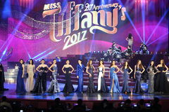 Rond final d'Universe 2017 de Mlle Tiffany chez Tiffany Theatre Photo libre de droits