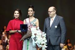 Rond final de Mlle Supranational Thailand 2017 sur la grande étape a Photos libres de droits
