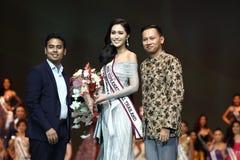 Rond final de Mlle Supranational Thailand 2017 sur la grande étape a Photographie stock