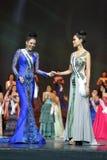 Rond final de Mlle Supranational Thailand 2017 sur la grande étape a Image stock