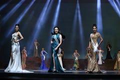 Rond final de Mlle Supranational Thailand 2017 sur la grande étape a Photographie stock libre de droits