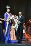 Rond final de Mlle Supranational Thailand 2017 sur la grande étape a Photo libre de droits