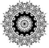 Rond floral mandala de schéma Image libre de droits