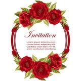 Rond frame met rozen Royalty-vrije Stock Afbeeldingen
