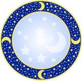 Rond frame met sterren Royalty-vrije Stock Afbeelding