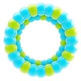 Rond geïsoleerd cirkel kleurrijk frame Stock Afbeeldingen