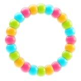 Rond geïsoleerdr cirkel kleurrijk frame Royalty-vrije Stock Afbeelding