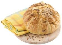 rond gemaakt brood op houten plank Royalty-vrije Stock Afbeelding