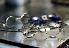 Rond gemaakte bril Stock Afbeelding