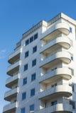 Rond gemaakte functionalistic balconys Stockholm Stock Afbeelding