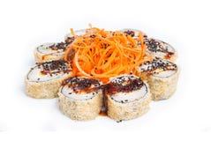 Rond gemaakte sushimaki Stock Foto's