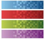 Rond gemaakte vierkantentextuur Stock Foto