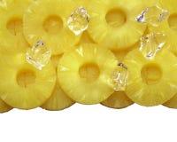Rond gesneden ananas Stock Fotografie