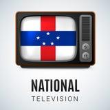 Rond glanzend pictogram van Antillen van Nederland Royalty-vrije Stock Afbeeldingen