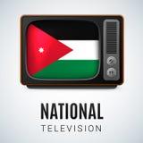 Rond glanzend pictogram van Jordanië Stock Afbeeldingen