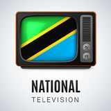 Rond glanzend pictogram van Tanzania Stock Afbeelding