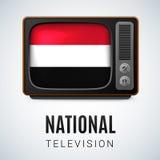 Rond glanzend pictogram van Yemen Royalty-vrije Stock Fotografie