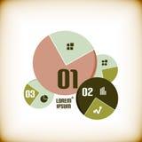 Rond grafiek infographic malplaatje vector illustratie