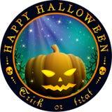 Rond Halloween-ontwerp met pompoen Stock Foto's