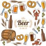 Rond kader met bier Royalty-vrije Stock Afbeeldingen