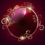 Rond kader met decoratieve elementen Royalty-vrije Stock Afbeeldingen