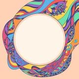 Rond kader met kleurenpatroon Stock Foto's