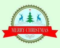 Rond Kerstmispictogram Stock Fotografie